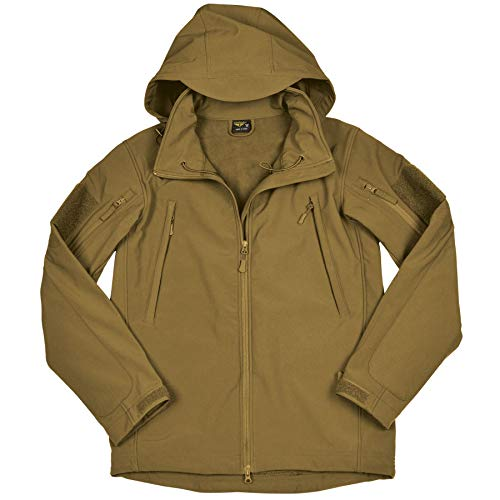 Condor Summit Soft Shell Tactical Jacket, Color Coyote Tan, Size 2XL