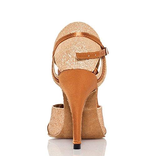 bal Gold femme Salle de heel 10cm Miyoopark wq68vHH