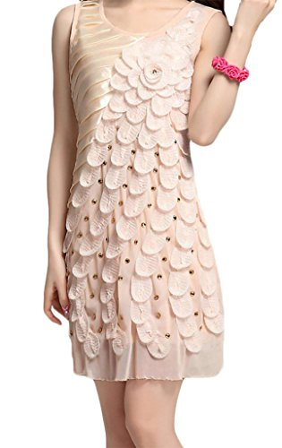 Amazon.com: Hblld Women Flower Pattern Sequined Cocktail Party Prom Dress Ball Gowns Beige: Clothing