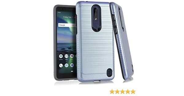 Bemz Slim Metallic Carbon Edge Phone Case Compatible with Nokia 3.1 Plus (Cricket) - Blue