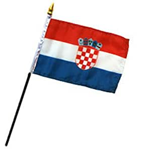 "Croatia 4""x6"" Desk Stick Flag (No Base) (3)"