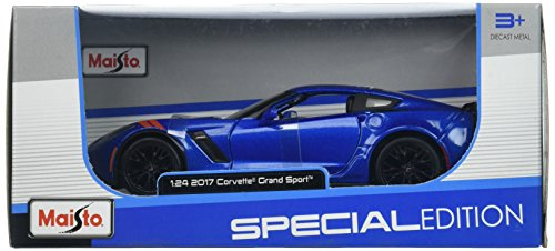 - Maisto 31516BL 2017 Chevy Corvette Grand Sport Blue Die Cast Car