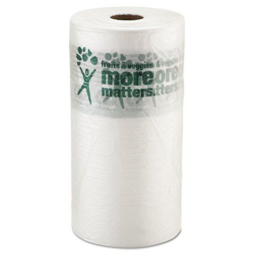 Inteplast Group Produce Bag, 10 x 15, 9 Microns, Natural, 1400/Roll, 4 Rolls/Carton