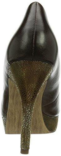 Tamaris 22424 - Zapatos de vestir de cuero para mujer multicolor - Mehrfarbig (Mocca/Gold 329)