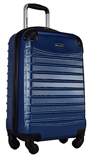 (Ciao Voyager Hardside Luggage Spinner Wheeled 20-inch Suitcase (Dark Lake Blue))