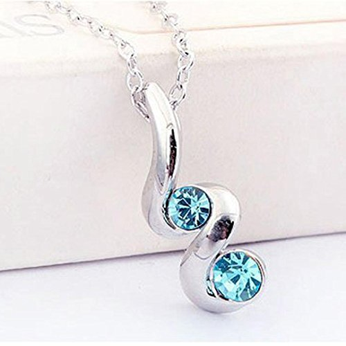 Clearance Deal! Hot Sale! Necklace, Fitfulvan 2018 Princess Bride Bridesmaid Romantic Wedding Creative Necklace Earring Set Mother's Day Pendant Necklace Gifts Jewelry (Blue)