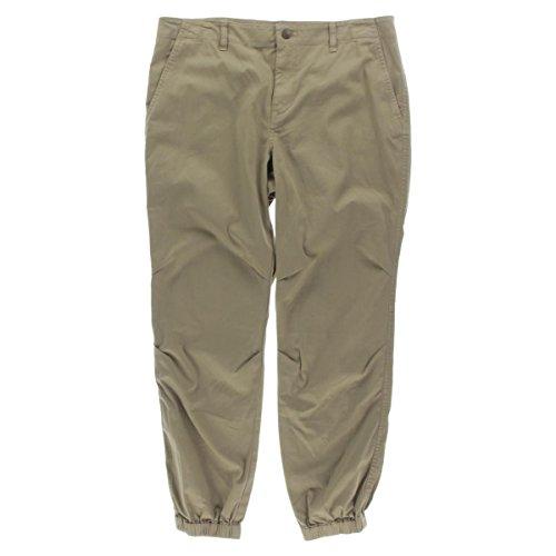 Lauren Ralph Lauren Womens Twill Tapered-Leg Pants Tan 14 (White Lauren Ralph Pants)