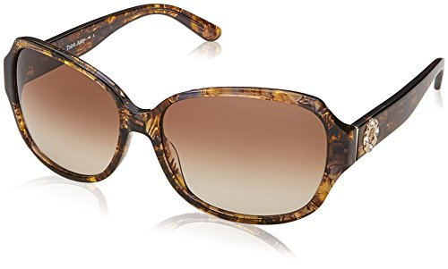 (Juicy Couture - Juicy 591/S 0YL3 Brown Crystal Rectangle Sunglasses)