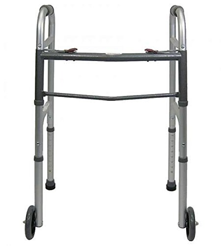 Cheap Guardian Easy Care Folding Walker with 5 inches Fixed wheels, 30757W, 1 ea hot sale