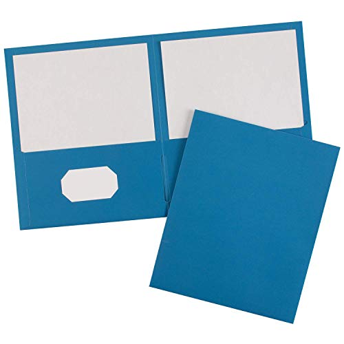 (Avery 47986 Two-Pocket Folder, 40-Sheet Capacity, Light Blue (Box of 25) (Renewed))