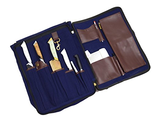 Chef Pack Knife Carrier Backpack With Shoulder Straps – Professional Canvas Travel Case With Organizer Slots For Knives Pens Pencils & Spoon by Boldric (Image #2)