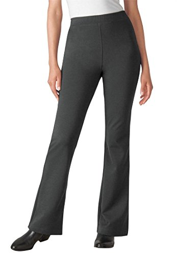 Women's Plus Size Tall Pants, Boot-Cut In Ponte Knit Medi...