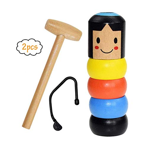 Do Halloween Magic Tricks (HENGBANG Unbreakable Wooden Man Magic Toy ,Funny Toy Stage Magic Props,Immortal Daruma Halloween Magic Tricks)