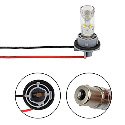 Winka 1156 LED Bulbs Socket Holder For Auto Car Turn Signal Tail Stop Rear Brake Light Base Harness Plugs Connectors Pre-wired Wiring Sockets: Automotive