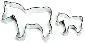 Cybrtrayd Parent/Child Cookie Cutter Set, 4-Inch, Horse