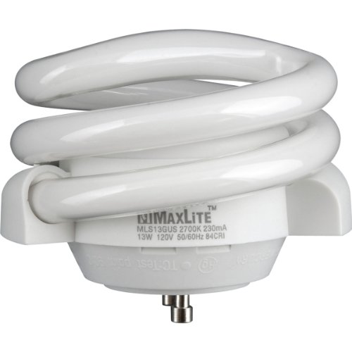- Maxlite MLS13GUSWW6 70441 Twist Style Twist and Lock Base Compact Fluorescent Light Bulb
