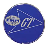 Horn Button, 36mm EMPI GT logo, Blue, Set of