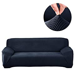 Sofa Slipcover Size:         Sofa length (A-A) between 74 to 90 Inches (185cm-230cm)         Sofa length (B-B) between 90 to 118 Inches (230cm-300cm)         How to install         Steps 1: Position the slipcover over the sofa ...