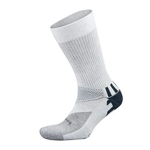 Balega Enduro V-Tech Crew Socks For Men and Women (1 Pair), White/Grey Heather, Medium by Balega