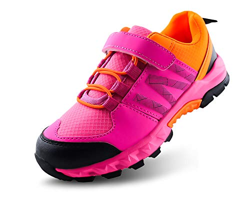 Hiking Shoes Girls - Jabasic Kids Hiking Shoes Outdoor Adventure Athletic Sneakers (13,Coral)