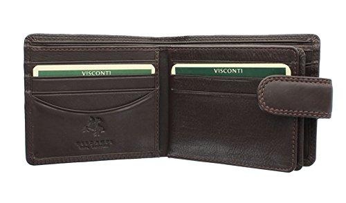 Linguetta In Cioccolato Portafoglio Collezione Strand A Ht13 Con Pelle Heritage Chiusura Visconti qICwtCp