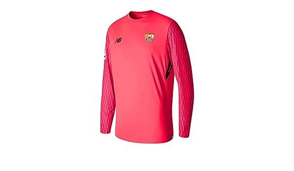 New Balance Sevilla FC ML Primera Equipación Portero 2017-2018, Camiseta, Rosa, Talla XL: Amazon.es: Deportes y aire libre