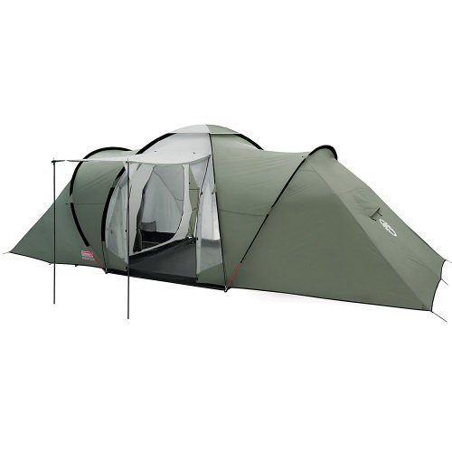 Coleman Zelt Ridgeline 4/6 Plus, 4/6 Mann Zelt, 4/6 Personen Vis-A-Vis Tunnelzelt, Campingzelt, Kuppelzelt mit…