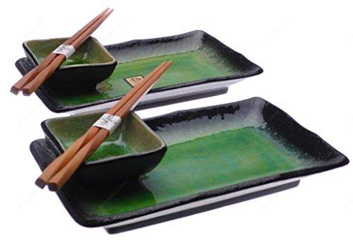 Kafuh OSR6/LG Suhi Set For Two, Light Green by M.V. Trading