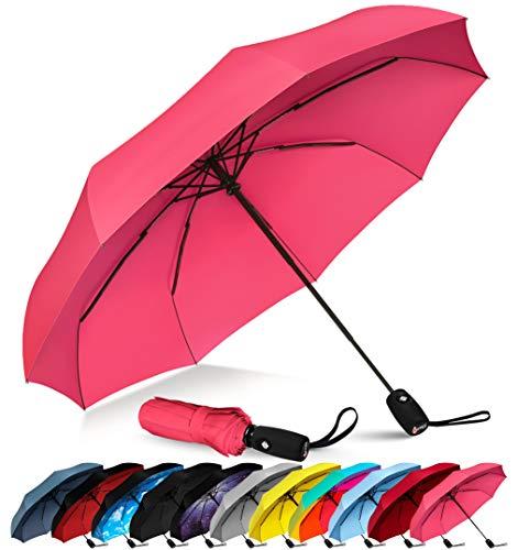 - Repel Windproof Travel Umbrella with Teflon Coating (Pink)