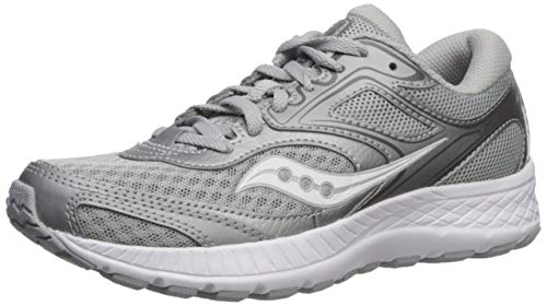 Saucony Women's VERSAFOAM Cohesion 12 Road Running Shoe, Grey/Silver, 7 M US
