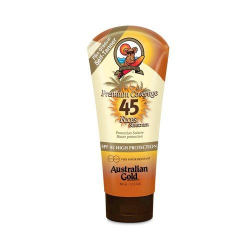 australian gold spf 45 premium coverage lotion viso + bronzer Bradford & Hamilton B.V. A75104