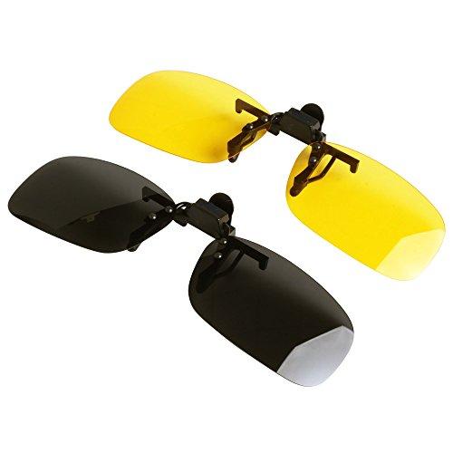 polarizadas on sol Gafas 60mm up hombre Jee clip mujer de LTS005 flip amarillo negro w0SUKxqX