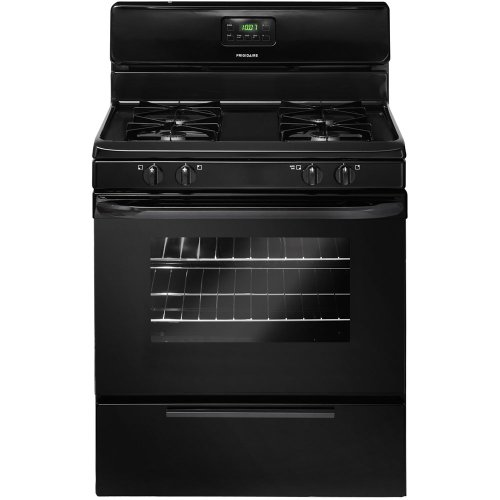Frigidaire 30 In. Black Freestanding Gas Range - FFGF3015LB
