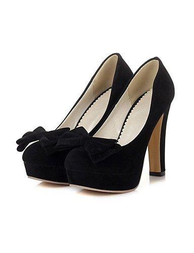 GGX/Damen Schuhe Samt die vier Jahreszeiten Heels/Plattform/Basic Pumpe Heels Office & Karriere/Casual geschoben Ferse peach-us5.5 / eu36 / uk3.5 / cn35