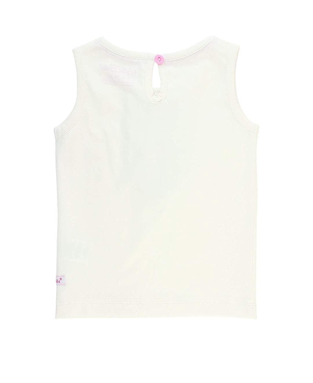 RuffleButts Little Girls Sleeveless Knit Tank Top w//Ruffles