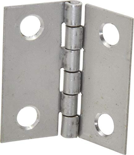 1-1/2'' Long x 1-1/2'' Wide x 0.035'' Thick, 302/304 Stainless Steel Commercial Hinge pack of 10