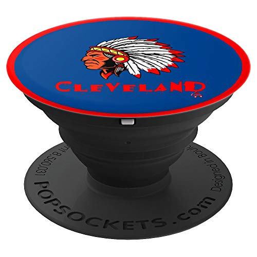 Cleveland Hometown Indian Tribe vintage Baseball Fans - PopSockets Grip and Stand for Phones and Tablets (Cell Baseball Holder Phone)