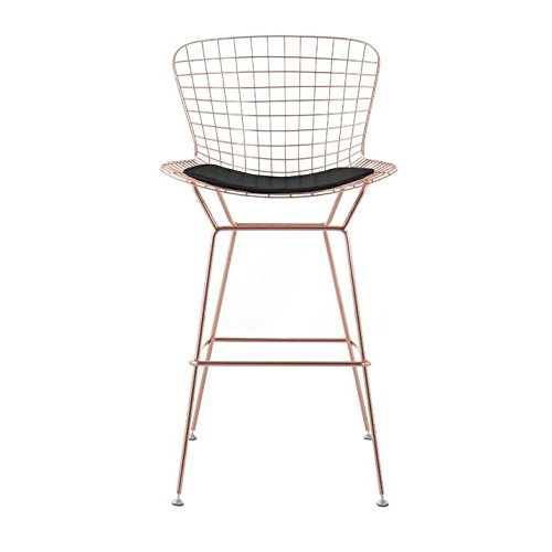 Bertoia Style Wire Counter Stool In Rose Gold Finish