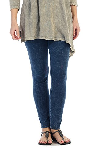 Jess & Jane Women's Mineral Washed Cotton Legging Pants (XL, -