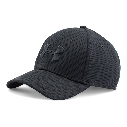 Under Armour Men's Blitzing II Stretch Fit Cap, Black/Black, Medium/Large