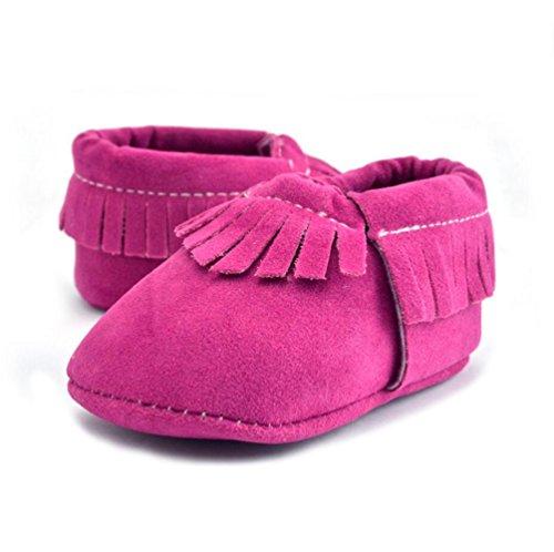 Vlunt Babyschuhe Baby-Krippe Quasten Schuhe Casual Schuhe Lauflernschuhe 0-18 Monate Rose