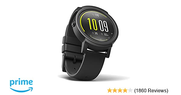 Amazon Com Ticwatch E Most Comfortable Smar Ch Shadow1 4 Inch Oled Display Android Wear 2 0compatible With Ios And Android Google Istant Cell