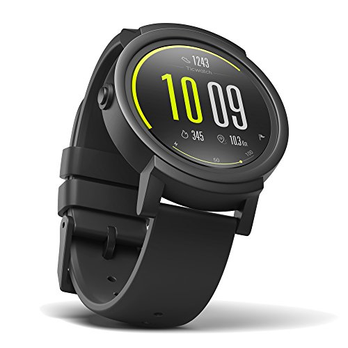 Ticwatch E most comfortable Smartwatch-Shadow,1.4 inch OLED Display, Android Wear 2.0,Compatible with iOS and Android, Google Assistant (Best Smartwatch Under 100)