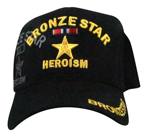 All Star Embroidered Cap - Embroidered U.S. Army Veteran Marine Navy Air Force Military U.S. Warriors Baseball Cap Hat (BRONZE STAR)