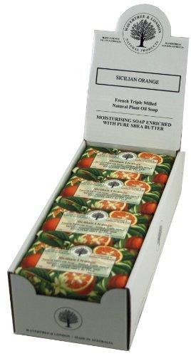 Wavertree & London Sicilian Orange (8 bars) -Triple-milled (twice) Shea Butter soap Bar -Rich & Creamy Lather