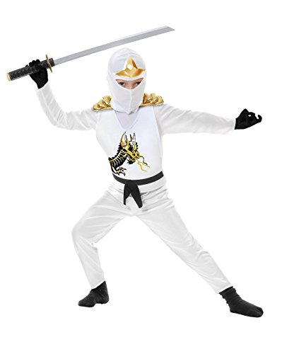 [Ninja Avenger II with Armor Children's White Costume (X-Small)] (White Ninja Costumes For Kids)