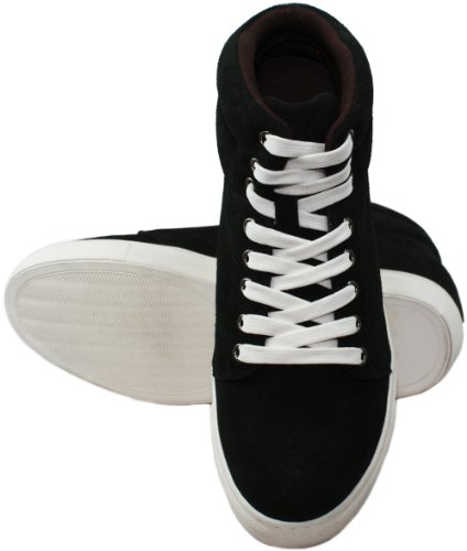 K-CALDEN 107201-(3 7,62 cm, altezza Inches)-Tappetto aumentare ascensore scarpe, colore: nero con lacci, Scarpe da ginnastica)