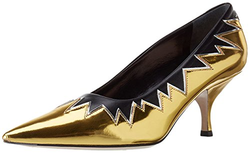 Miu Miu Ladies Decollete Pumps, Oro / Nero, 38,5 Eu