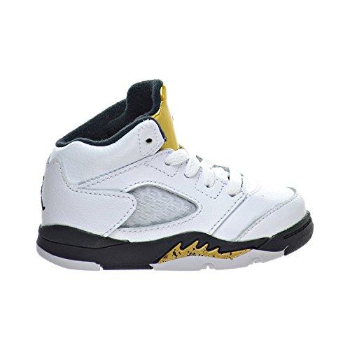 Jordan Air 5 Retro BT Toddler's Shoes White/Black/Metallic Gold Coin 440890-133 (10 M - Size Shoes 5 Toddler Jordan