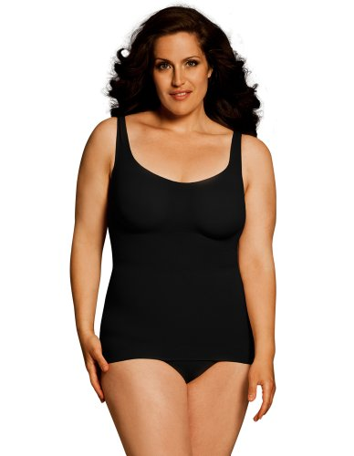 Body Wrap Camisole (Body Wrap Fuller Figure Tank-Tastic Long Black Camisole 45635 3X/20 US)